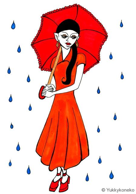 六月の雨と傘