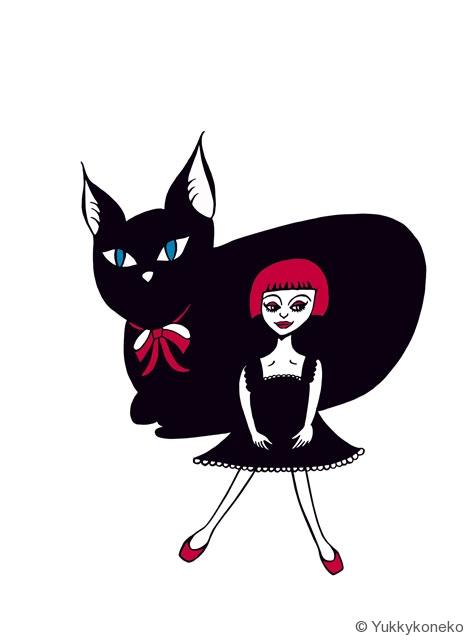 黒猫ソファ