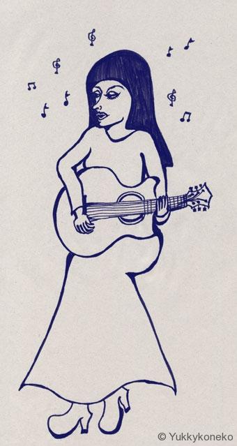 ギター弾きの女