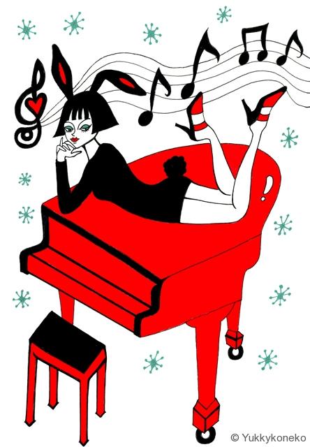赤いピアノの女